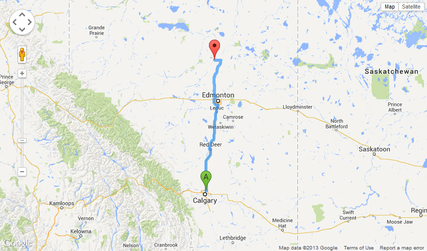 Driving Directions from Calgary